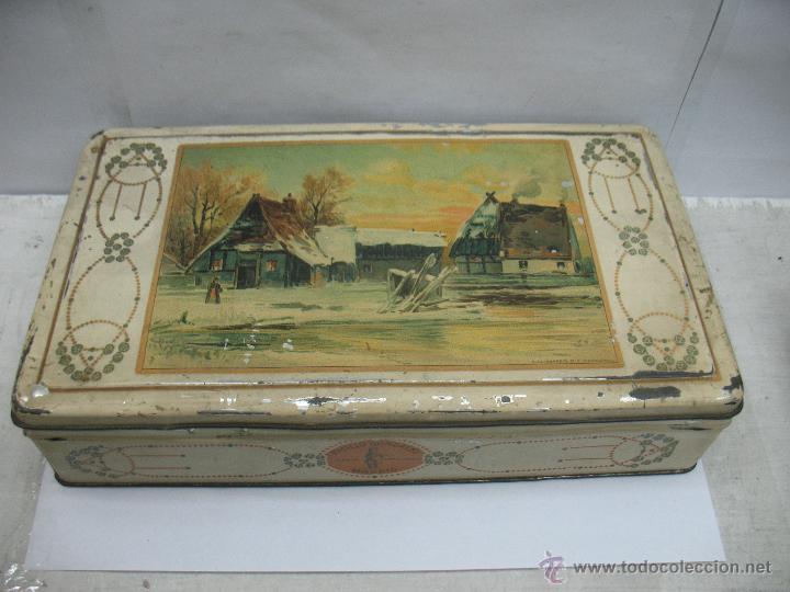 ANTIGUA CAJA METÁLICA EMILIO GONZÁLEZ MADRID (Coleccionismo - Cajas y Cajitas Metálicas)