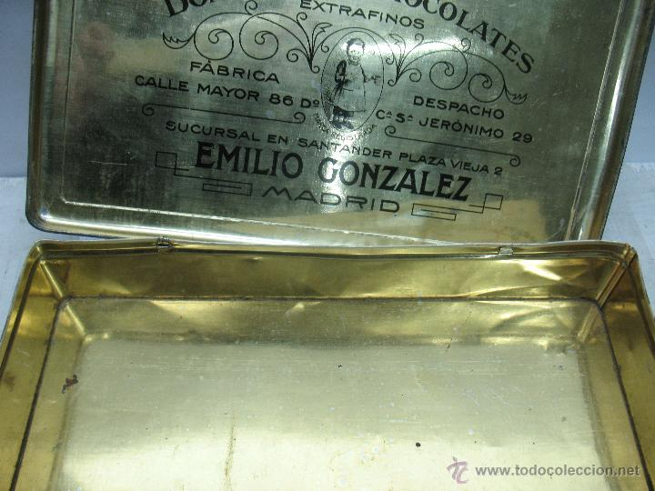 Cajas y cajitas metálicas: Antigua caja metálica Emilio González Madrid - Foto 3 - 48381370