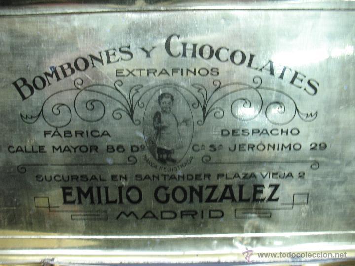 Cajas y cajitas metálicas: Antigua caja metálica Emilio González Madrid - Foto 4 - 48381370