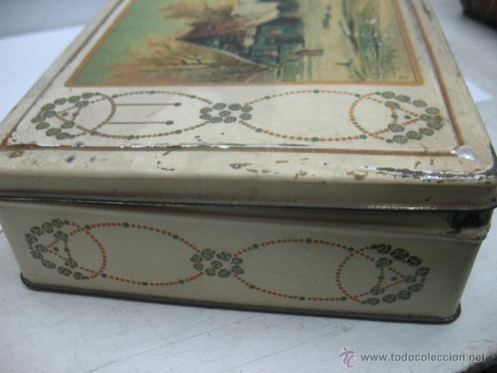 Cajas y cajitas metálicas: Antigua caja metálica Emilio González Madrid - Foto 6 - 48381370