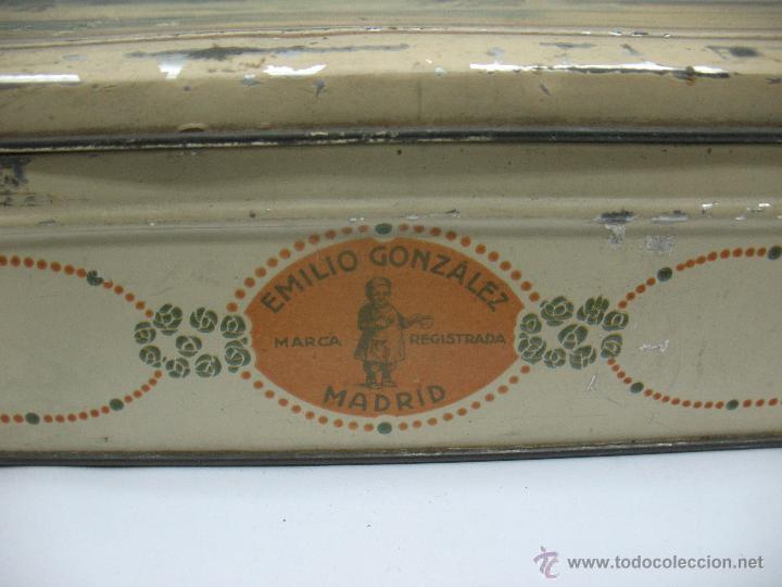 Cajas y cajitas metálicas: Antigua caja metálica Emilio González Madrid - Foto 8 - 48381370
