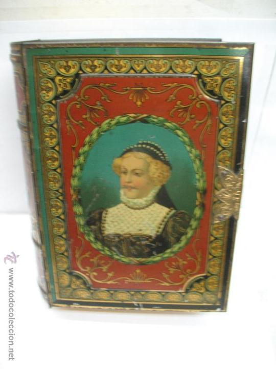 ANTIGUA CAJA METÁLICA CON FORMA DE LIBRO DE LONDRES (Coleccionismo - Cajas y Cajitas Metálicas)