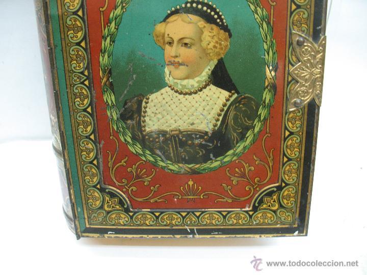 Cajas y cajitas metálicas: Antigua caja metálica con forma de libro de Londres - Foto 4 - 163026856