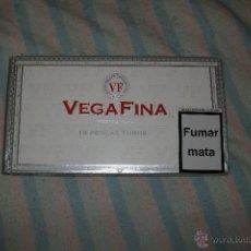 Cajas y cajitas metálicas: CAJA TABACO DE MADERA VEGAFINA!GRANDE!NUEVA!SE ENVIA VACIA!. Lote 48399701