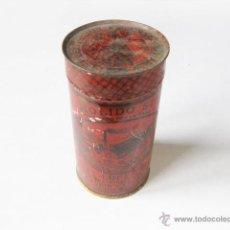 Cajas y cajitas metálicas: CAJA O BOTE DE LATA DE CAFE MOLIDO SUPERIOR DE MATIAS LOPEZ. 3 PESETAS. Lote 48456602