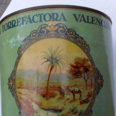 Cajas y cajitas metálicas: BOTE LA TORREFACTORA VALENCIANA , COLONIALES ALEJANDRO GOMEZ S,A, VALENCIA. Lote 48467738