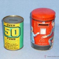 Cajas y cajitas metálicas: 2 LATAS HUCHA . 11X7,5. Y HUCHA BUZON TROQUELADA. 14X8,5.. Lote 48562680