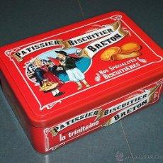 Cajas y cajitas metálicas: CAJA / LATA GALLETAS LA TRINITAINE. Lote 48698289