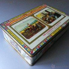 Cajas y cajitas metálicas: THE GATHERING OF SAFFRON BRAND CAJA DE HOJALATA AZAFRAN CIRAGES FRANÇAIS SANTANDER 26X17X7,5 CMS. Lote 48741613