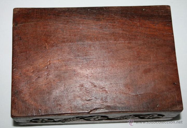 Cajas y cajitas metálicas: CAJA VINTAGE DE MADERA TALLADA - Foto 7 - 48863442