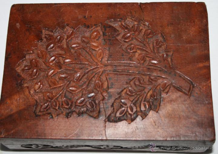Cajas y cajitas metálicas: CAJA VINTAGE DE MADERA TALLADA - Foto 9 - 48863442