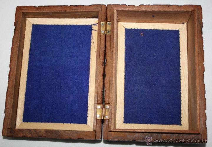 Cajas y cajitas metálicas: CAJA VINTAGE DE MADERA TALLADA - Foto 10 - 48863442