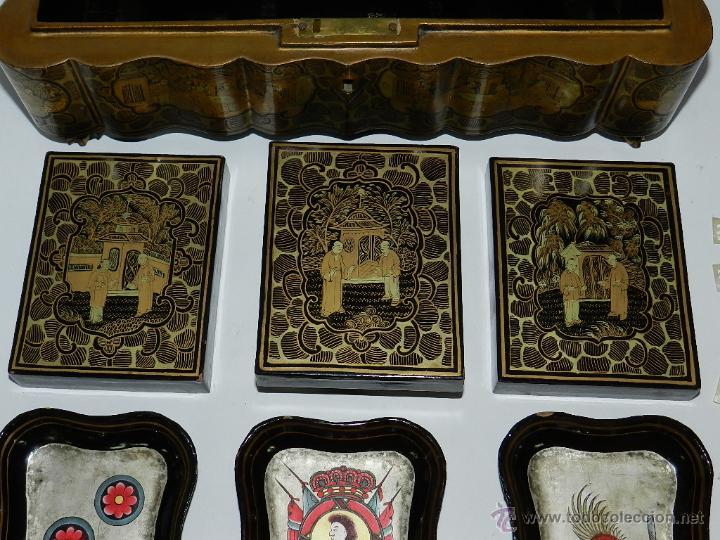 Cajas y cajitas metálicas: PHILIPPINES CAJA DE JUEGO HISPANO FILIPINA CON CARACTERES CHINESCOS. FILIPINAS, NAIPE, BARAJA, CAR - Foto 9 - 132282922