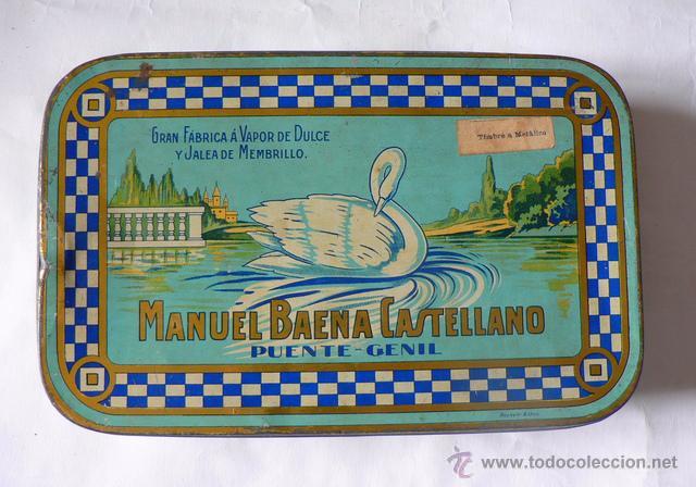 CAJA DE LATA DE JALEA DE MEMBRILLO DE MANUEL BAENA CASTELLANO (Coleccionismo - Cajas y Cajitas Metálicas)