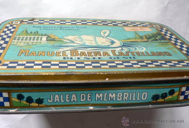 Cajas y cajitas metálicas: CAJA DE LATA DE JALEA DE MEMBRILLO DE MANUEL BAENA CASTELLANO - Foto 2 - 49275167