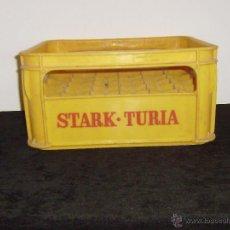 Cajas y cajitas metálicas: CAJA CERVEZA STARK TURIA PLASTICO, PARA 30 BOTELLINES DE 20 CL.. Lote 49453393