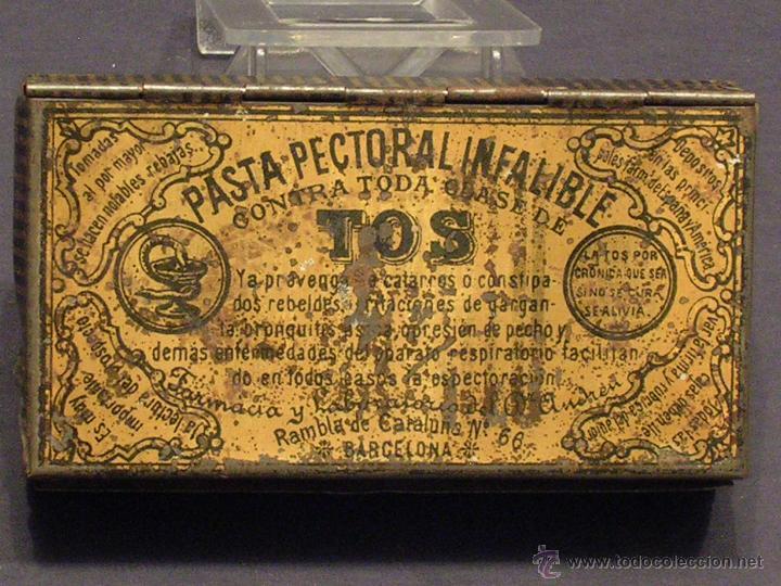 PASTA PECTORAL INFALIBLE PARA LA TOS (Coleccionismo - Cajas y Cajitas Metálicas)