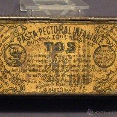 Cajas y cajitas metálicas: PASTA PECTORAL INFALIBLE PARA LA TOS. Lote 49493205