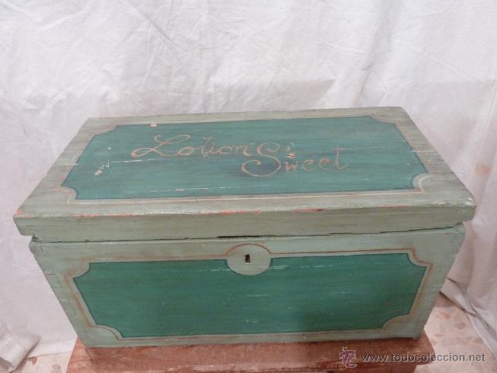 Caja De Madera Decorada En Colores Verdes Comprar Cajas Antiguas Y