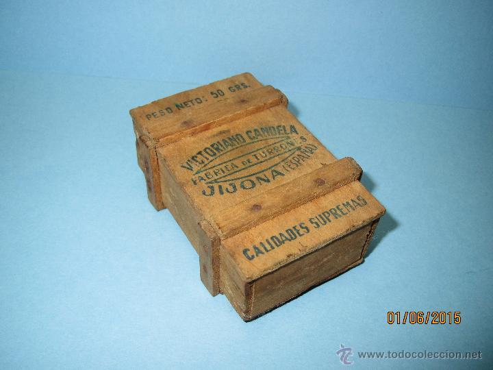 antigua caja de madera exportacin de victoriano candela fabrica de turrones en jijona ao