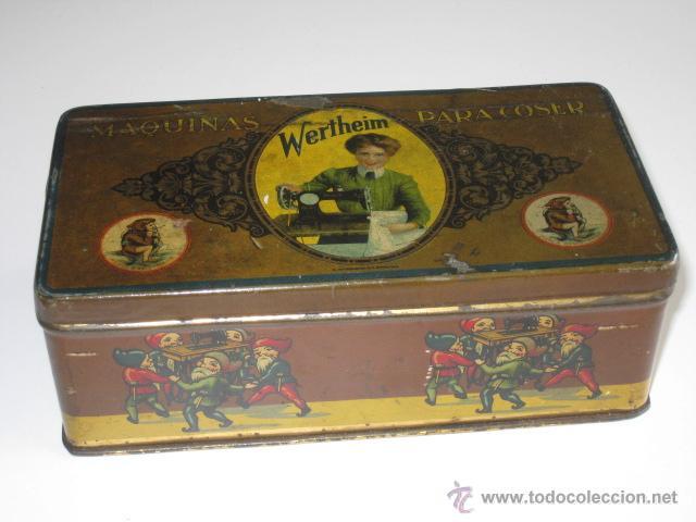 CAJA DE LATA LITOGRAFIADA, ACCESORIOS PARA WERTHEIM. (Coleccionismo - Cajas y Cajitas Metálicas)
