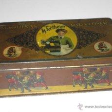 Cajas y cajitas metálicas: CAJA DE LATA LITOGRAFIADA, ACCESORIOS PARA WERTHEIM.. Lote 50062661