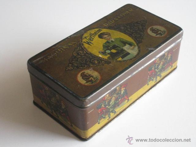 Cajas y cajitas metálicas: CAJA DE LATA LITOGRAFIADA, ACCESORIOS PARA WERTHEIM. - Foto 2 - 50062661