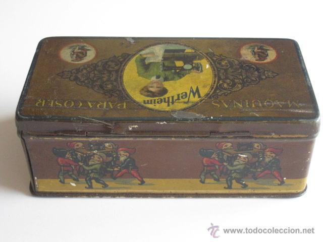Cajas y cajitas metálicas: CAJA DE LATA LITOGRAFIADA, ACCESORIOS PARA WERTHEIM. - Foto 3 - 50062661