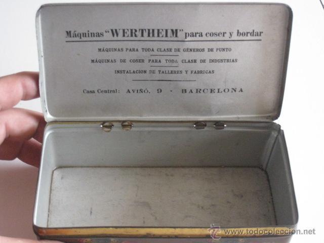 Cajas y cajitas metálicas: CAJA DE LATA LITOGRAFIADA, ACCESORIOS PARA WERTHEIM. - Foto 5 - 50062661