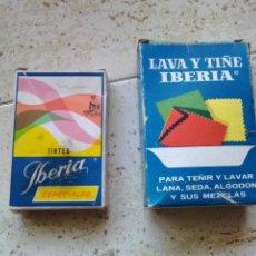 Cajas y cajitas metálicas: CAJAS DE TINTES IBERIA EN SOBRES . Lote 50101567