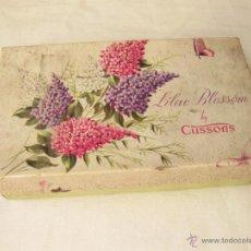 Cajas y cajitas metálicas: CAJA VINTAGE DE CARTON DE JABONES. JABON LILAC BLOSSOM BY CUSSONS. Lote 50115008