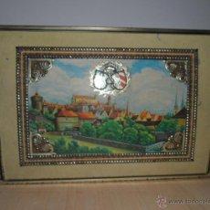 Cajas y cajitas metálicas: CAJA CON GRABADOS. Lote 50118976