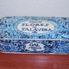 Cajas y cajitas metálicas: ANTIGUA CAJA DE CARTÓN - JABÓN FLORES DE TALAVERA - PERFUMERÍA GAL MADRID - AÑOS 20-30. Lote 50206646