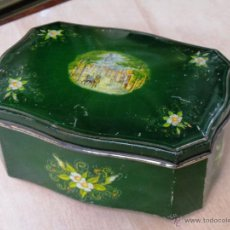 Cajas y cajitas metálicas: ANTIGUA CAJA EN HOJALATA LITOGRAFIADA. Lote 50295494