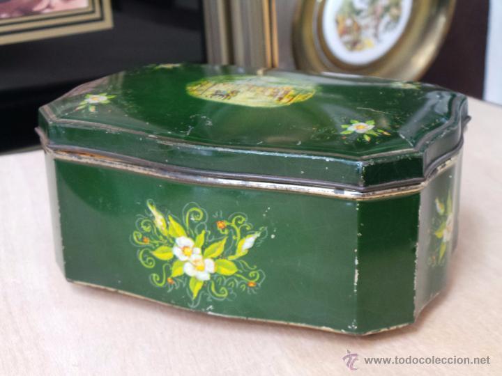 Cajas y cajitas metálicas: ANTIGUA CAJA EN HOJALATA LITOGRAFIADA - Foto 7 - 50295494