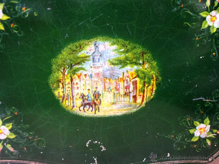 Cajas y cajitas metálicas: ANTIGUA CAJA EN HOJALATA LITOGRAFIADA - Foto 10 - 50295494