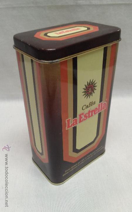 CAJA METALICA CAFES LA ESTRELLA (Coleccionismo - Cajas y Cajitas Metálicas)