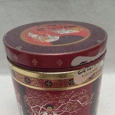 Cajas y cajitas metálicas: CAJA METALICA DECORADA CON DIBUJOS Y MOTIVOS CHINOS . Lote 50357998