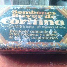 Cajas y cajitas metálicas: ANTIGUA CAJA BOMBONES BAYER DE CORIFINA DE BAYER. Lote 50359259