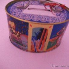 Cajas y cajitas metálicas: ANTIGUA CAJA HUCHA METALICA LITOGRAFIADA. Lote 50711592