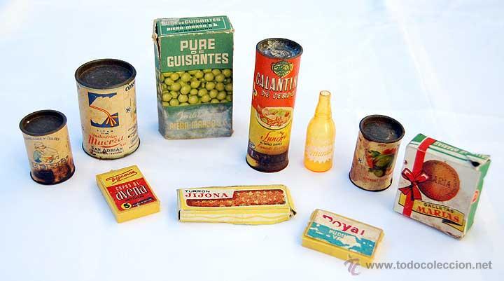 Miniaturas antiguas de envases de alimentos y b comprar cajas antiguas y cajitas met licas en - Envases alimentos ...