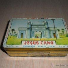 Cajas y cajitas metálicas: CAJA AZAFRÁN JESÚS CANO DE ESPINARDO MURCIA. Lote 50771556