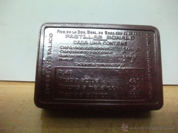 Cajas y cajitas metálicas: Pastillas bonal. antigua cajita de baquelita. - Foto 4 - 50782940