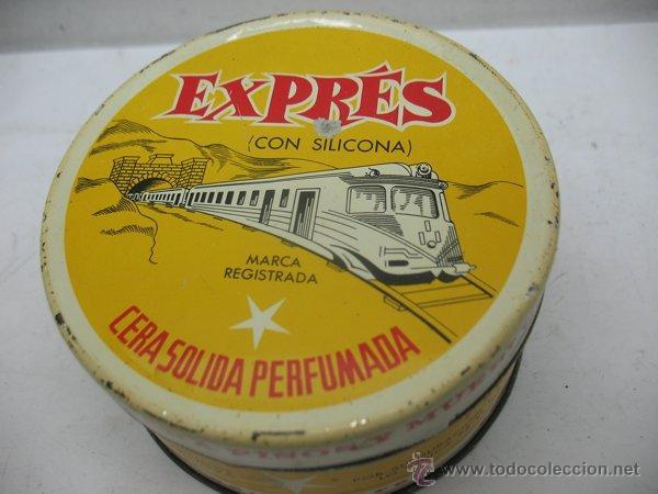 Cajas y cajitas metálicas: Antigua caja metálica circular CERA SÓLIDA PERFUMADA EXPRES especial para pisos y muebles - Foto 2 - 50785715