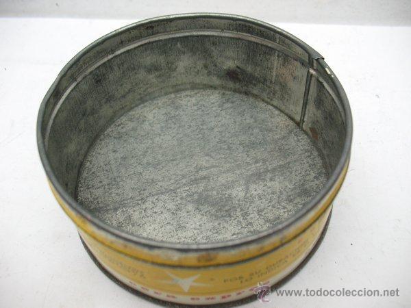 Cajas y cajitas metálicas: Antigua caja metálica circular CERA SÓLIDA PERFUMADA EXPRES especial para pisos y muebles - Foto 4 - 50785715