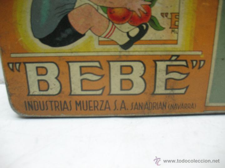 Cajas y cajitas metálicas: Antigua caja metálica Mermeladas y dulces Bebé Industrias Muerza - Foto 2 - 50814640
