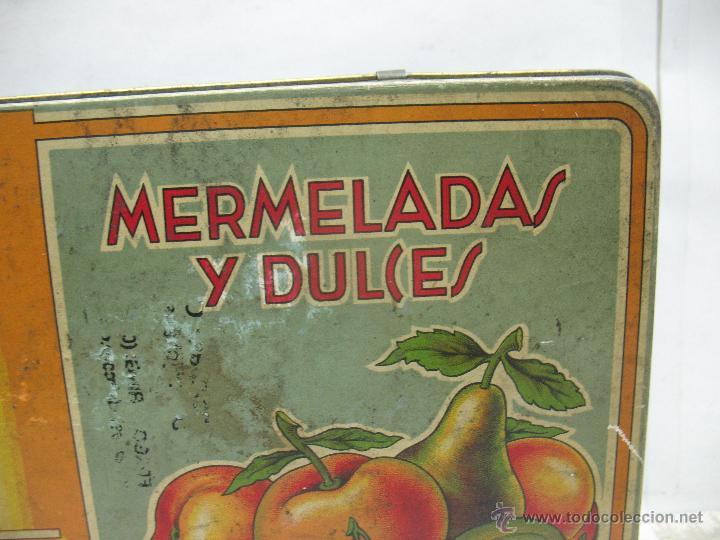Cajas y cajitas metálicas: Antigua caja metálica Mermeladas y dulces Bebé Industrias Muerza - Foto 3 - 50814640