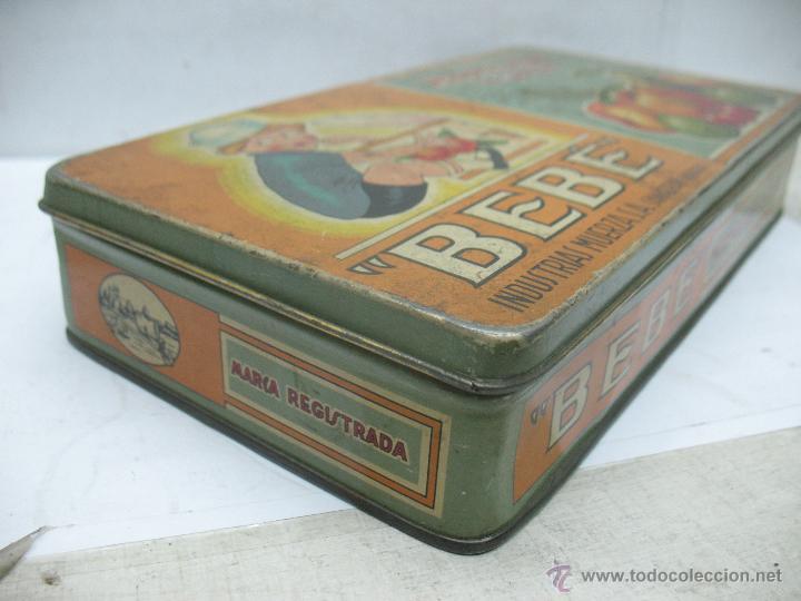 Cajas y cajitas metálicas: Antigua caja metálica Mermeladas y dulces Bebé Industrias Muerza - Foto 4 - 50814640