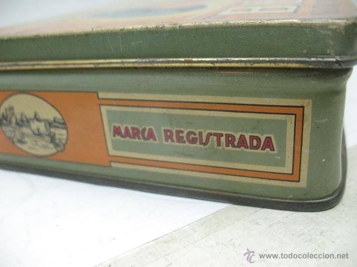 Cajas y cajitas metálicas: Antigua caja metálica Mermeladas y dulces Bebé Industrias Muerza - Foto 5 - 50814640