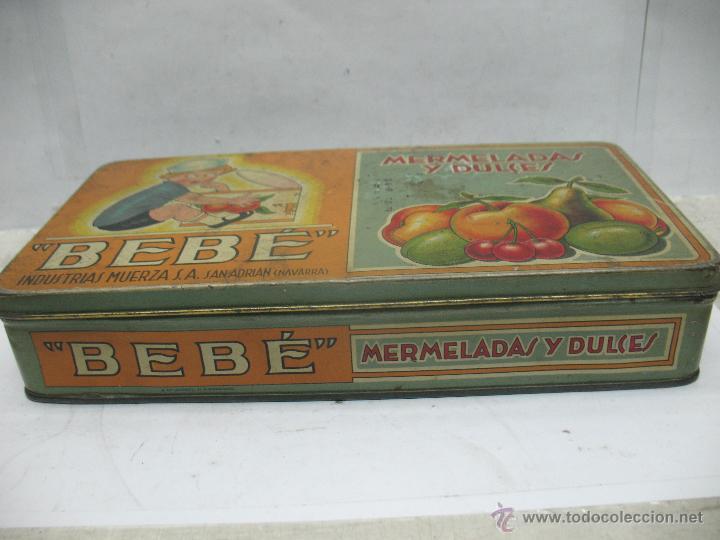 Cajas y cajitas metálicas: Antigua caja metálica Mermeladas y dulces Bebé Industrias Muerza - Foto 6 - 50814640